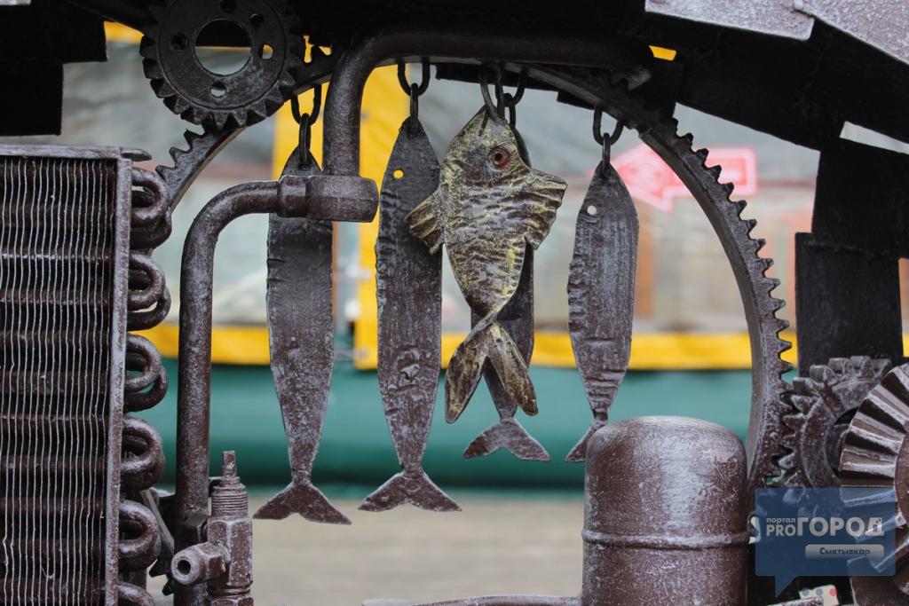 Памятник коми-рыбы в стиле стимпанк появился в центре Сыктывкара, фото-2