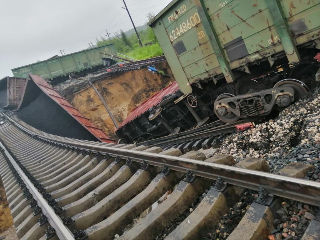 В Коми проливные дожди стали причиной железнодорожной аварии. Новости