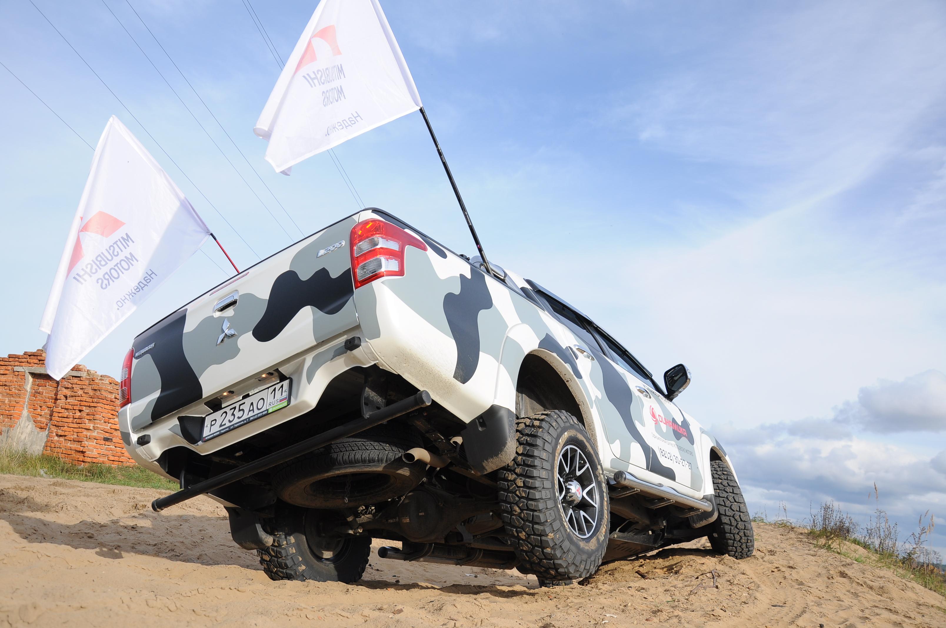 Тест-драйв нового Mitsubishi L200 пятого поколения в Сыктывкаре.