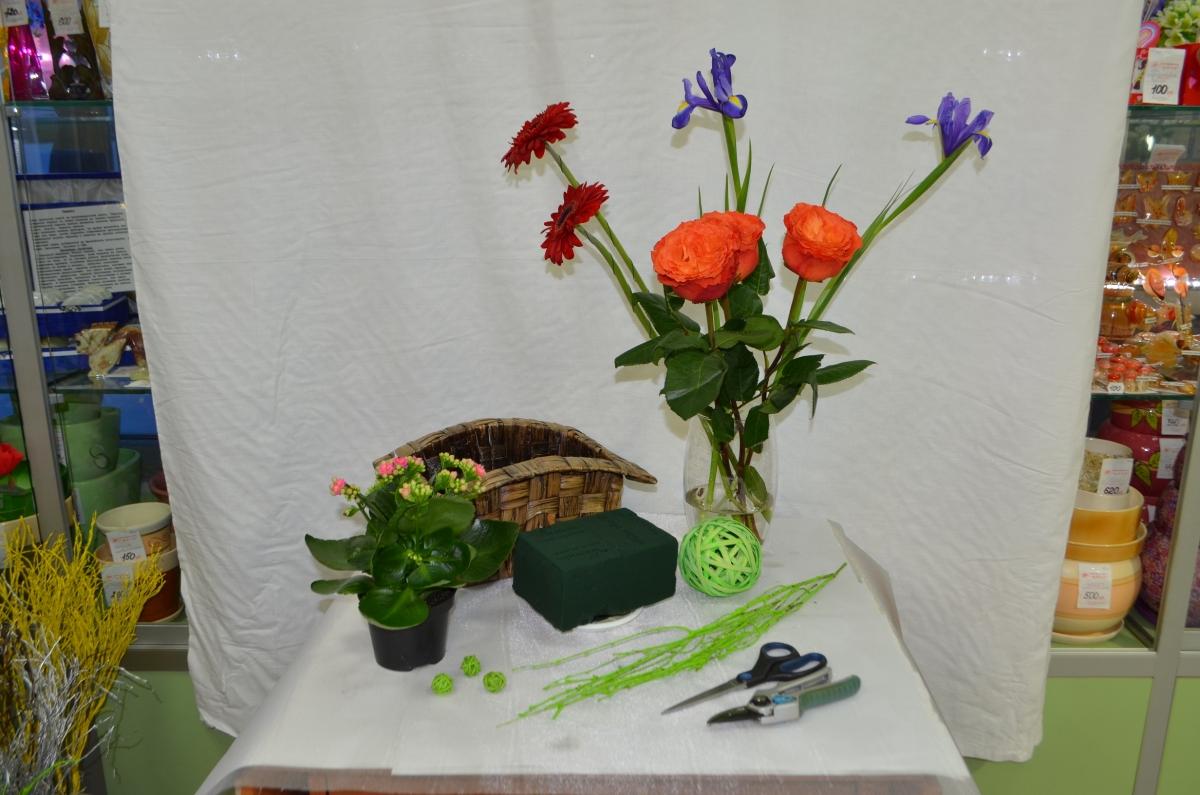Экибана из сухих цветов мастер класс подробно #6
