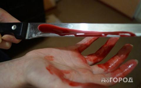 Жительница Коми набросилась на друга с двумя ножами