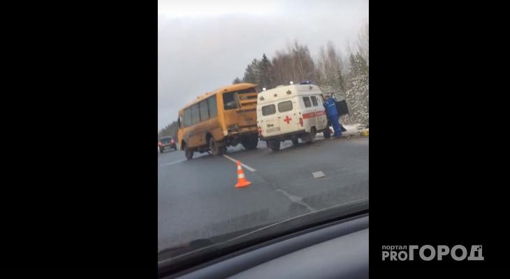 Появилось видео с места страшного ДТП со школьным автобусом в Коми