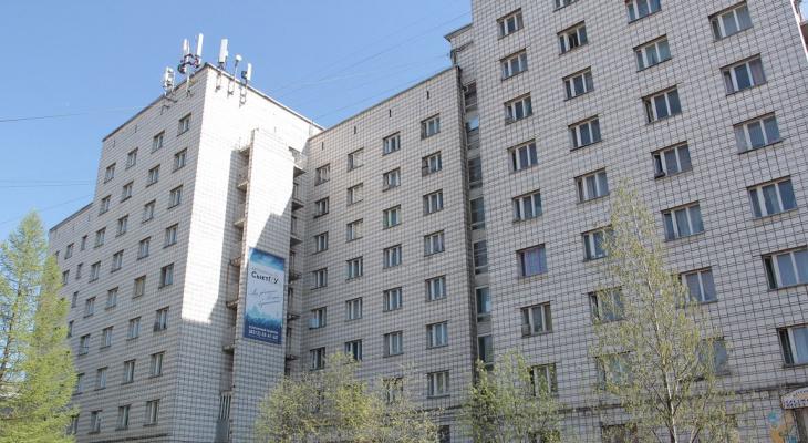 В Сыктывкаре здание общежития используют в световом шоу