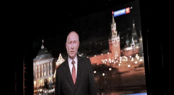 На главной елке Сыктывкара горожане прослушали два обращения Путина вместо одного