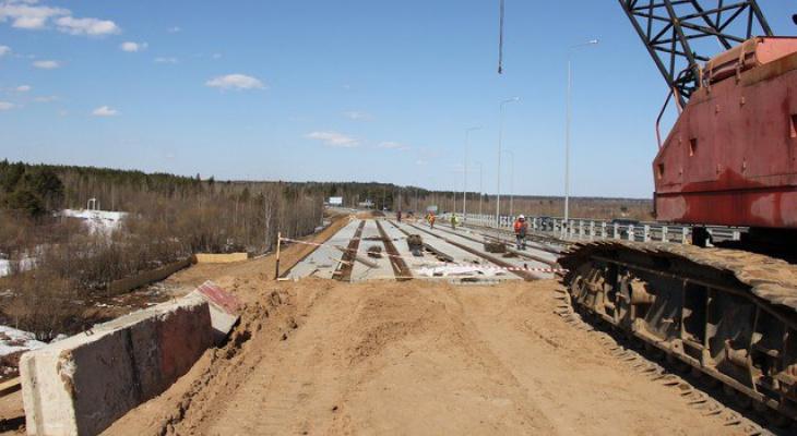 Новый мост на трассе Сыктывкар-Эжва готов более чем наполовину