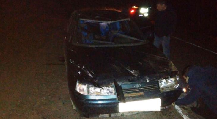 В Коми на темной дороге в кювет вылетела «десятка» с автоледи за рулем (фото)