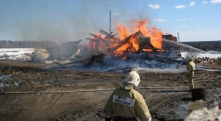В Коми дотла сгорел жилой дом, который пытались потушить 6 часов (фото)