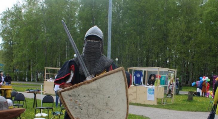 В Сыктывкаре на фестивале «ГажаДвиж» роботы играют в футбол, а рыцари гуляют в доспехах (фото)