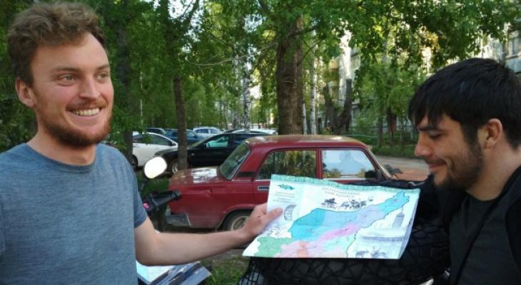 Мототуристы из Германии едут через всю Коми, чтобы посмотреть на Воркуту