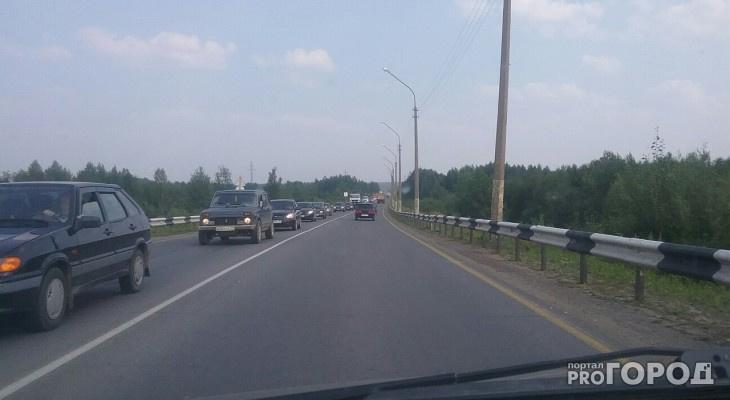 Снова пробки: в Сыктывкаре ограничат движение до и после Краснозатонского моста