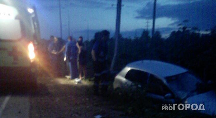 Сыктывкарцы стали свидетелями того, как «Тойота» вылетела в кювет, есть пострадавшие (фото)