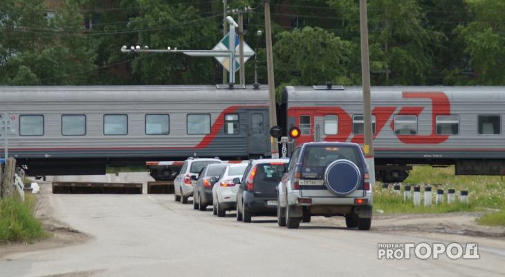 Сыктывкарским водителям запретят ездить через железнодорожный переезд на Лесопарковой