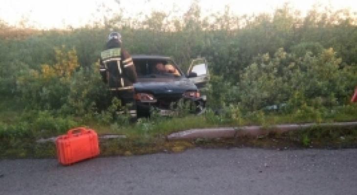 В Коми авто вылетело в кювет, пострадал пассажир