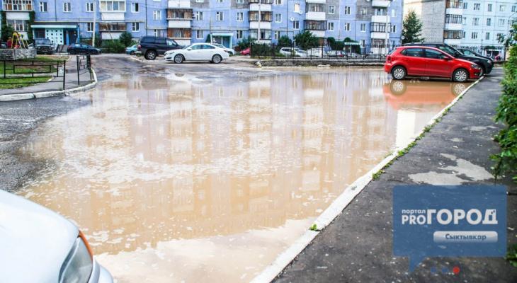 Сыктывкар затопило: за 8 дней выпало 72% нормы осадков