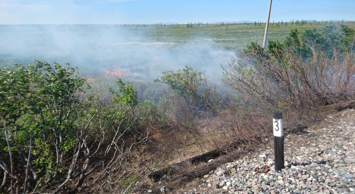 В Коми из поезда на ходу выбросили горящие отходы (фото)