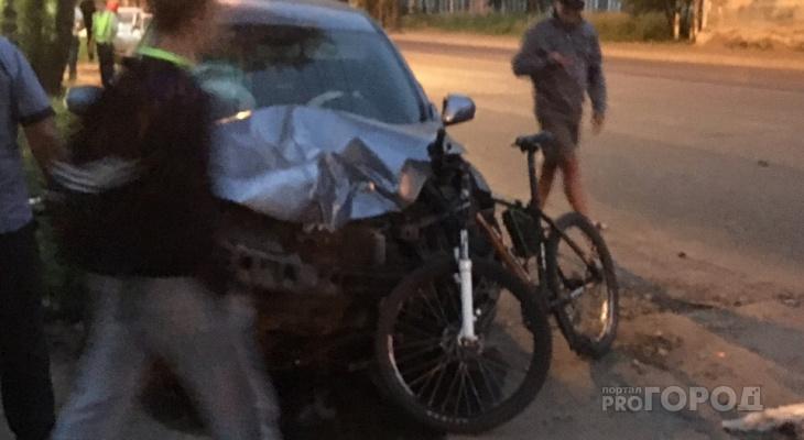 В Сыктывкаре произошло два ДТП: сбили велосипедиста, столкнулись автомобили