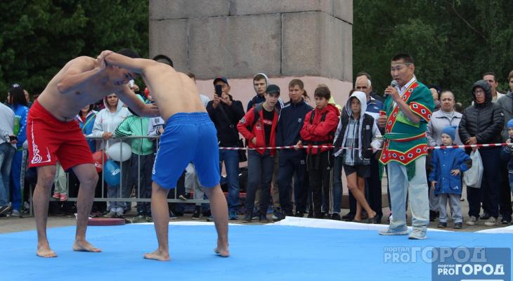 Сыктывкарцам показали национальную борьбу Ингушетии, Якутии и Татарстана