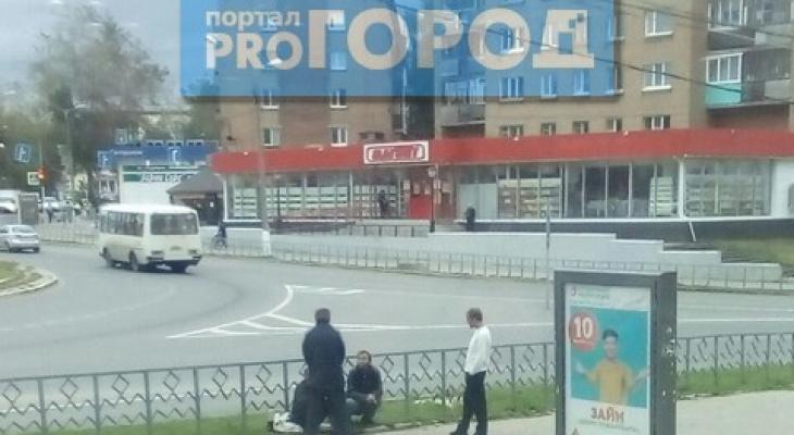 В Сыктывкаре пьяные мужчины устроили на «кольце» тусовку (фото)