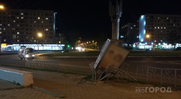 В центре Сыктывкара произошло жесткое ДТП, которое никто не видел (фото)