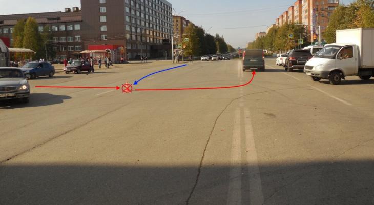 В Коми мотоциклист врезался в «Мерседес», который его не пропустил