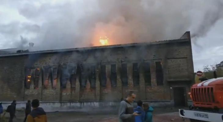 В Коми загорелось здание школы (видео)