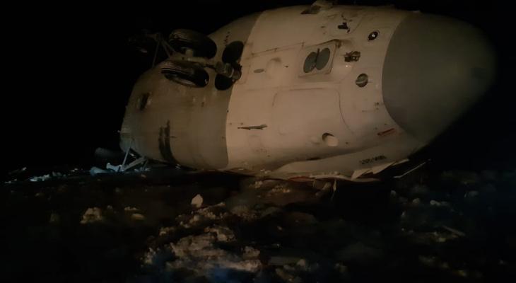 На границе с Коми разбился вертолет (фото)