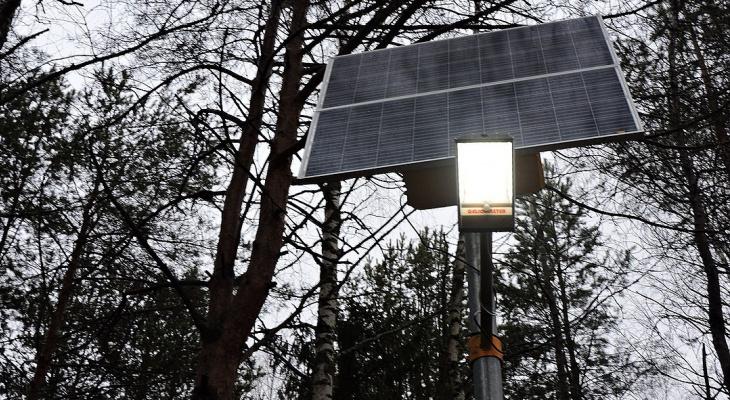 На окраине Сыктывкара установили высокотехнологичные светильники