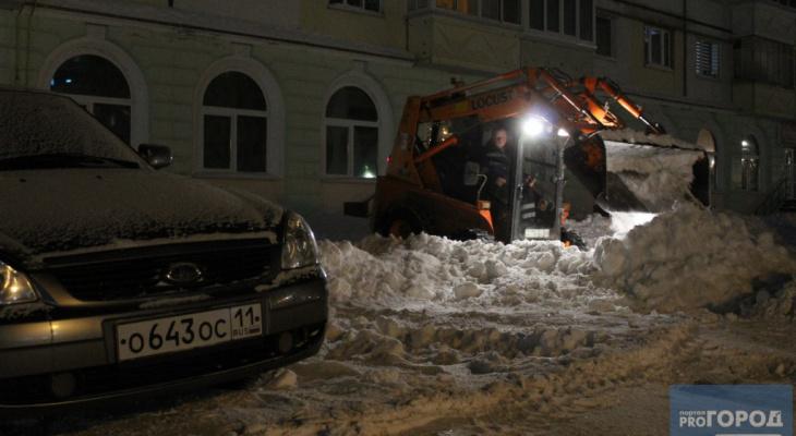 Мэрия Сыктывкара устроит рейд по снежным кучам