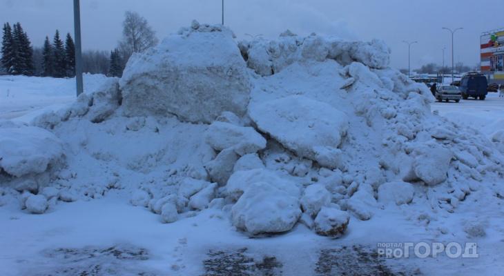 Мэрия Сыктывкара устроила рейд, чтобы наказать городские организации за «снежную свалку»