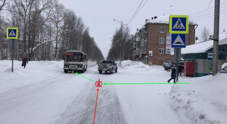 В Коми водитель «Тойоты» сбил подростка, а тот отлетел в автобус