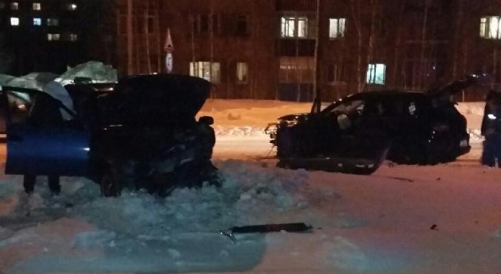 В Коми водитель «Фольксвагена» не уступил дорогу «Дэу» и разбил себе лицо