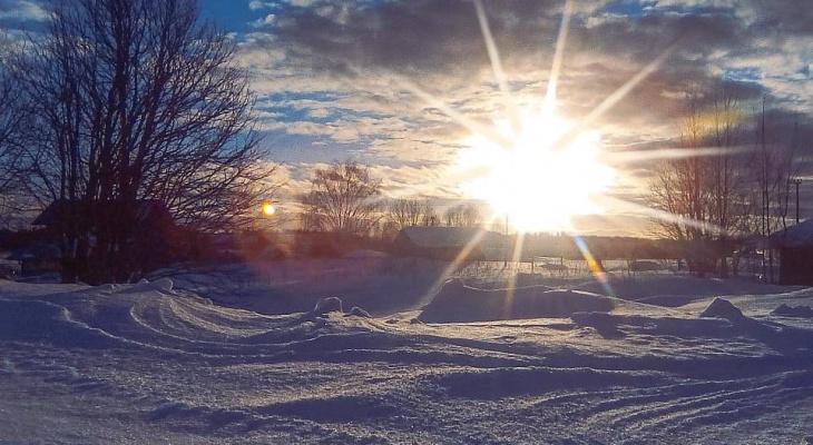Фото дня: яркие закаты в поселке под Сыктывкаром