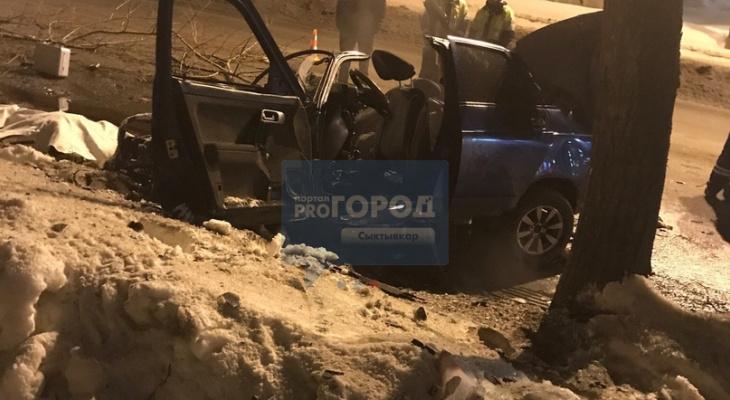 В Сыктывкаре «десятка» влетела в дерево, погиб человек (фото, видео)