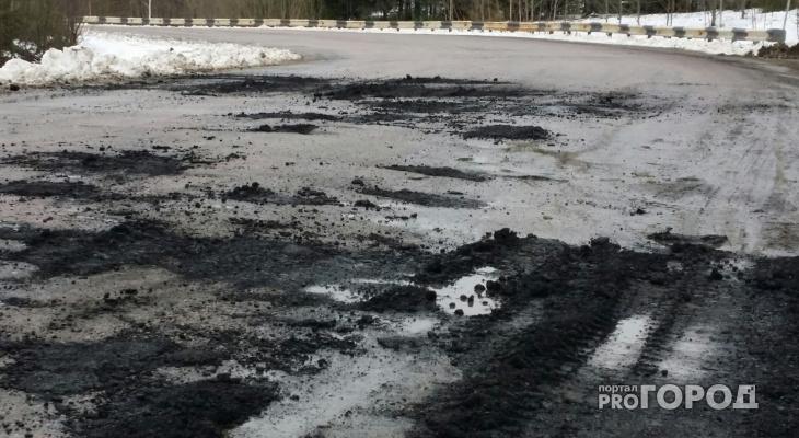 Сыктывкарская прокуратура заставила мэрию отремонтировать еще одну «разбомбленную» дорогу