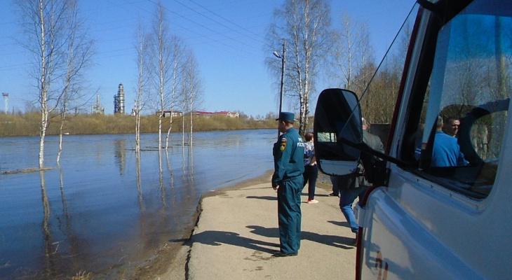 В двух районах Коми из-за половодья затопило дачные участки и жилые дома