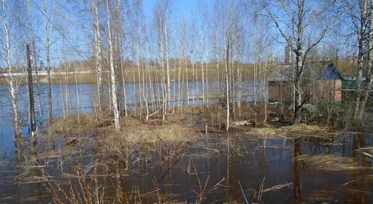 Паводок в районе Сыктывкара отступает
