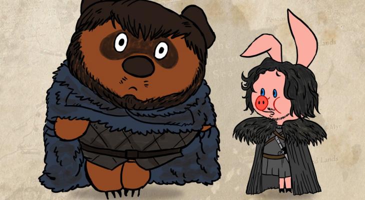 Иллюстрация дня: сыктывкарец нарисовал персонажей «Игры престолов» в стиле советских мультфильмов