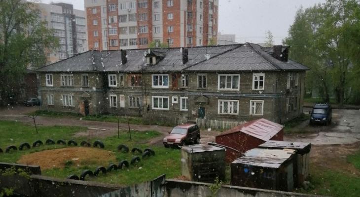 В Сыктывкаре снег выпал за неделю до лета: серые фото и видео жуткой погоды