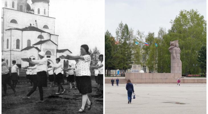 До и после: что изменилось на Стефановской площади в Сыктывкаре за 90 лет