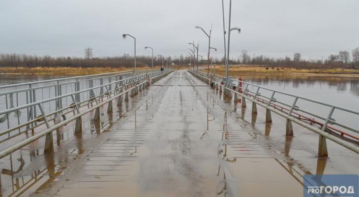 В Сыктывкаре снова открыли понтонный мост на Заречье