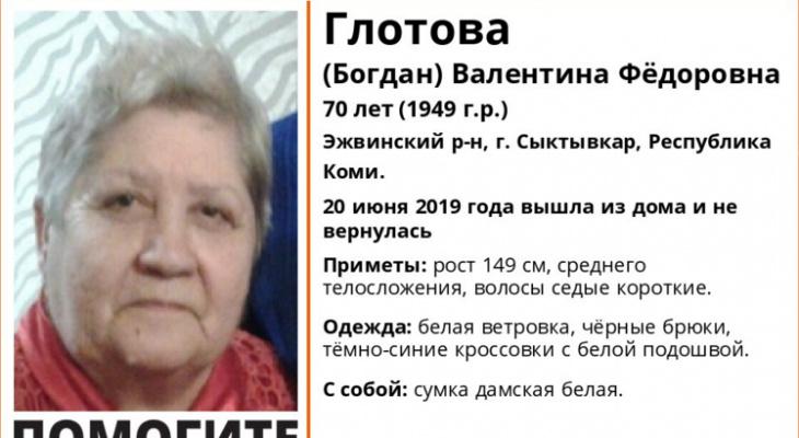 В Сыктывкаре 70-летняя пенсионерка вышла из дома и не вернулась