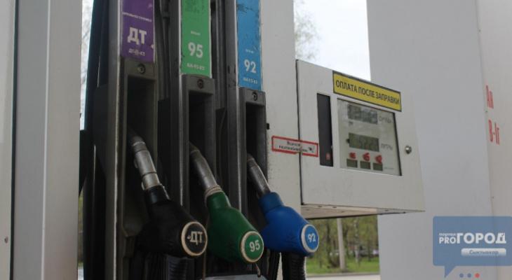 В Сыктывкаре подскочили цены на бензин