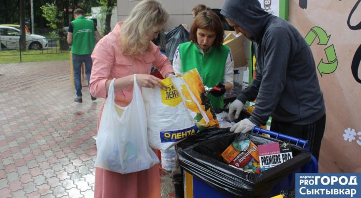 Сыктывкарцы сдавали мешки с мусором, чтобы бороться за экологию (фото)
