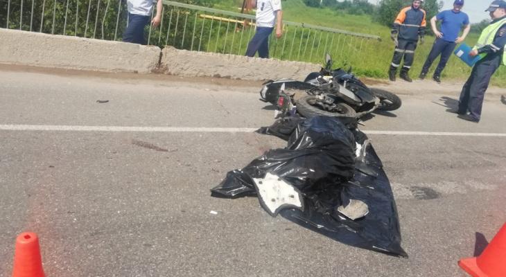 Стало известно, почему разбился мотоциклист, который погиб вчера в Коми