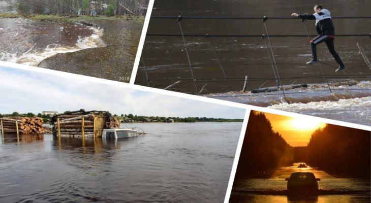 Автобус-«Титаник», подводный Сыктывкар и плавучие КамАЗы: как топило Коми последние несколько лет (фото, видео)