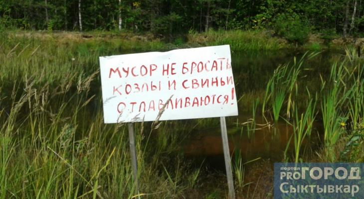 Фото дня в Сыктывкаре: борцы за экологию объявили об отлове «свиней» и «козлов»