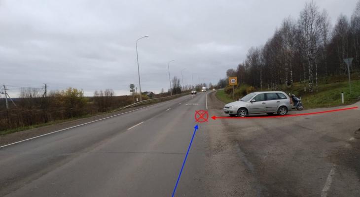 На трассе под Сыктывкаром водитель «Лады» сбил мужчину на мотороллере