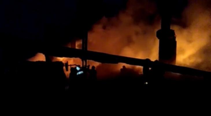 В Сыктывкаре заживо сгорел мужчина, пожарные два часа не могли подъехать к полыхающему дому (видео)