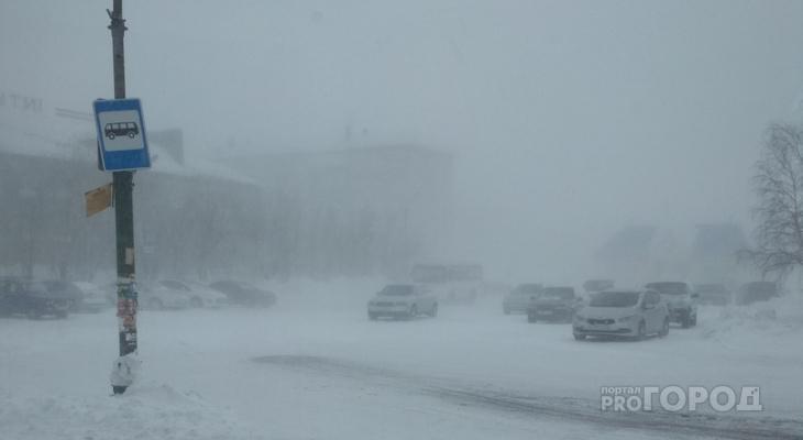Жителей Коми предупредили о шквальном ветре и мощных снегопадах