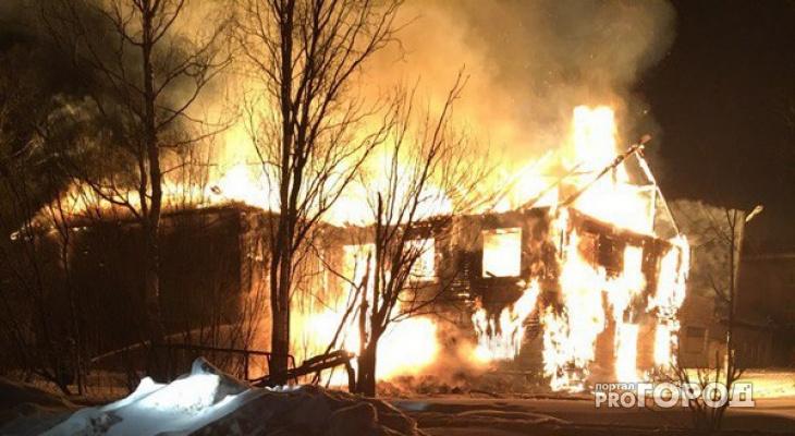 В Коми ночной пожар на границе с соседним регионом унес жизни четырех человек
